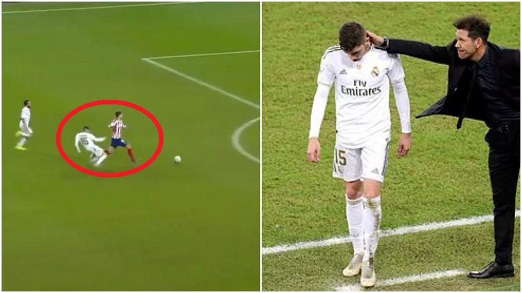 Faul Federico Valverde i reakcja Diego Simeone