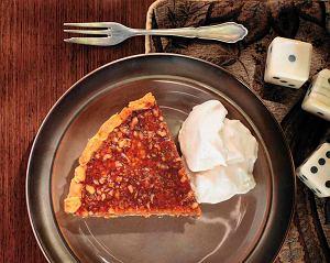 Glazurowana tarta pigwowo-orzechowa z kremem z mascarpone