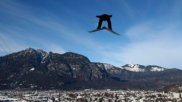 Kamil Stoch na treningu w Garmisch-Partenkirchen