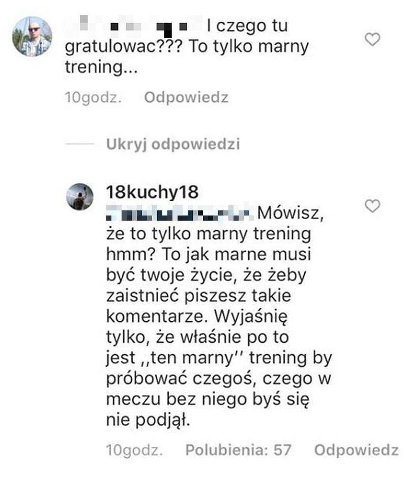 Kucharczyk odpowiada internaucie