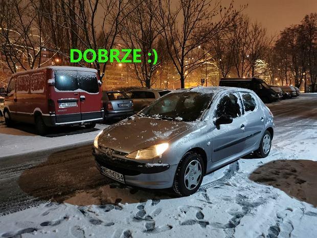 Prawidłowo odśnieżony samochód, Peugeot 206