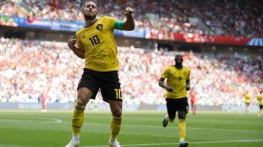 MŚ 2018. Belgia - Tunezja 5:2.Radość  Edena Hazarda