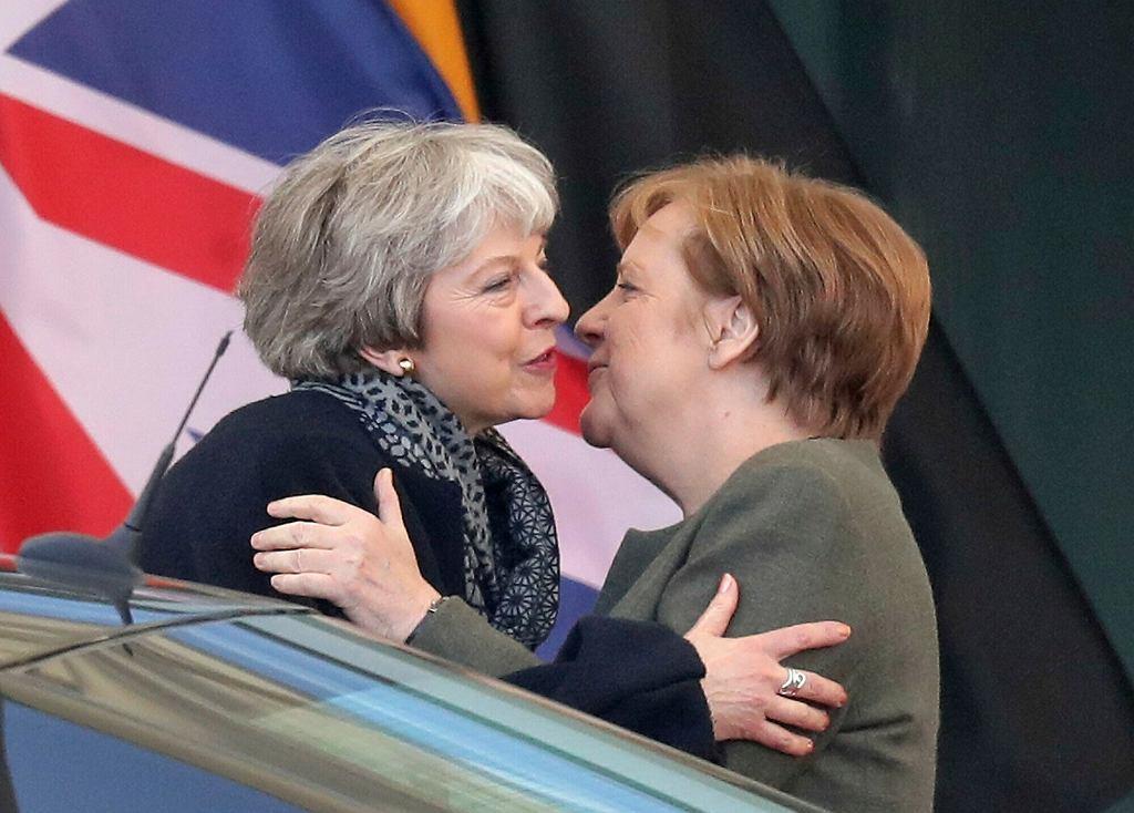 Brexit. Premier Wielkiej Brytanii Theresa May i kanclerz Niemiec Angela Merkel
