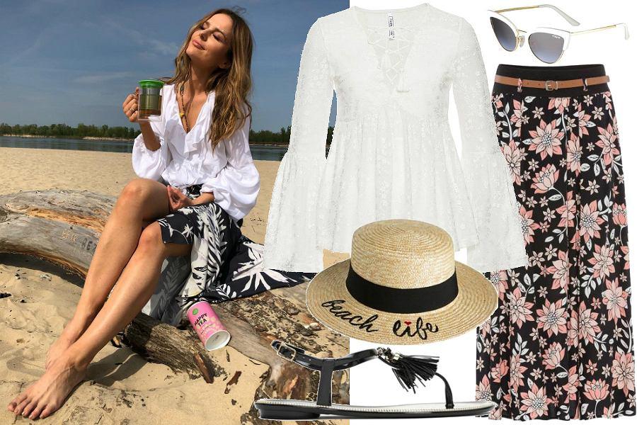 Jak się ubrać na plaże - długa spódnica