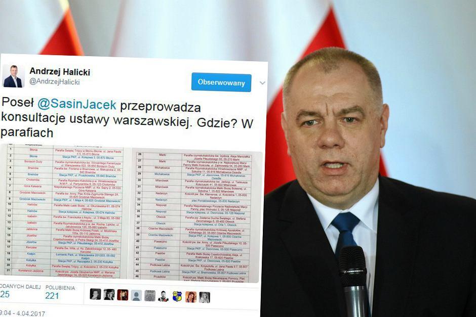Poseł Prawa i Sprawiedliwości Jacek Sasin