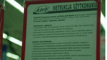 Instrukcja obsługi hulajnogi