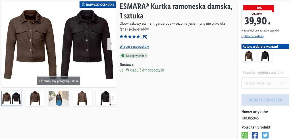 Lidl wyprzedaje modną kurtkę ramoneskę. Kosztuje niecałe 40 zł. To model idealny na wiosnę