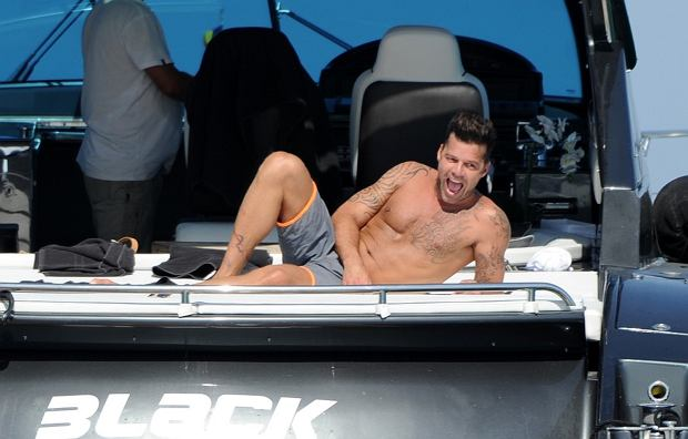 Ricky Martin na Ibizie