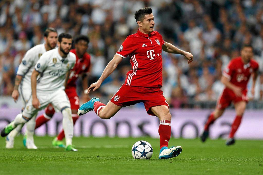 Robert Lewandowski rewanżowym ćwierćfinale strzelił Realowi Madryt gola
