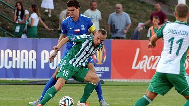 Olimpia Grudziądz - Lech Poznań 0:2 w 1/16 finału Pucharu Polski. Marcin Kamiński