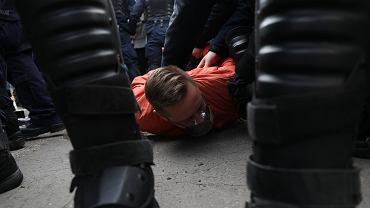 Protest przedsiębiorców w Warszawie w dniu 11. rocznicy katastrofy smoleńskiej