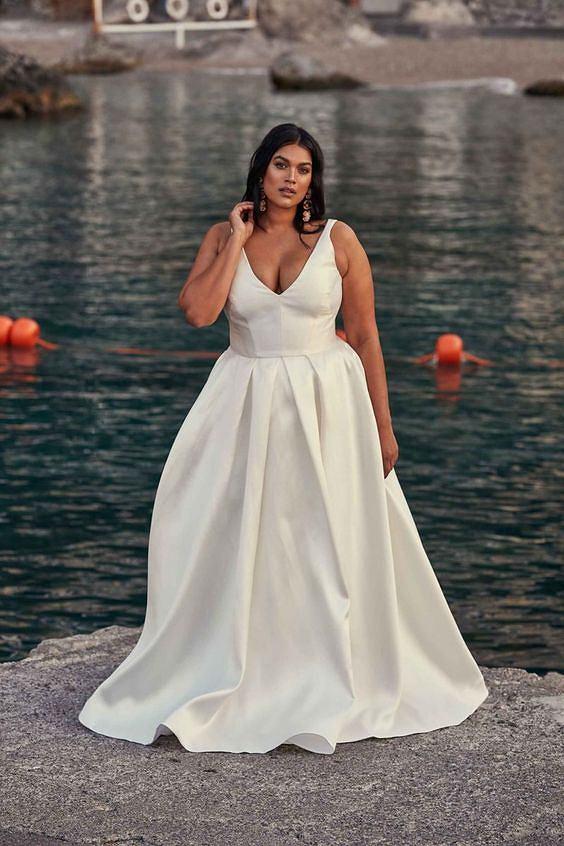 Sukienka ślubna plus size
