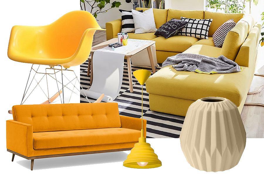Żółty i pomarańczowy - do ocieplenia wnętrza