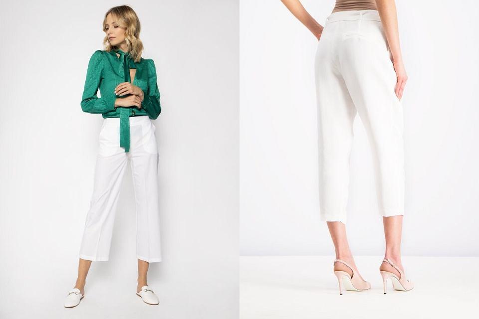 Spodnie białe
