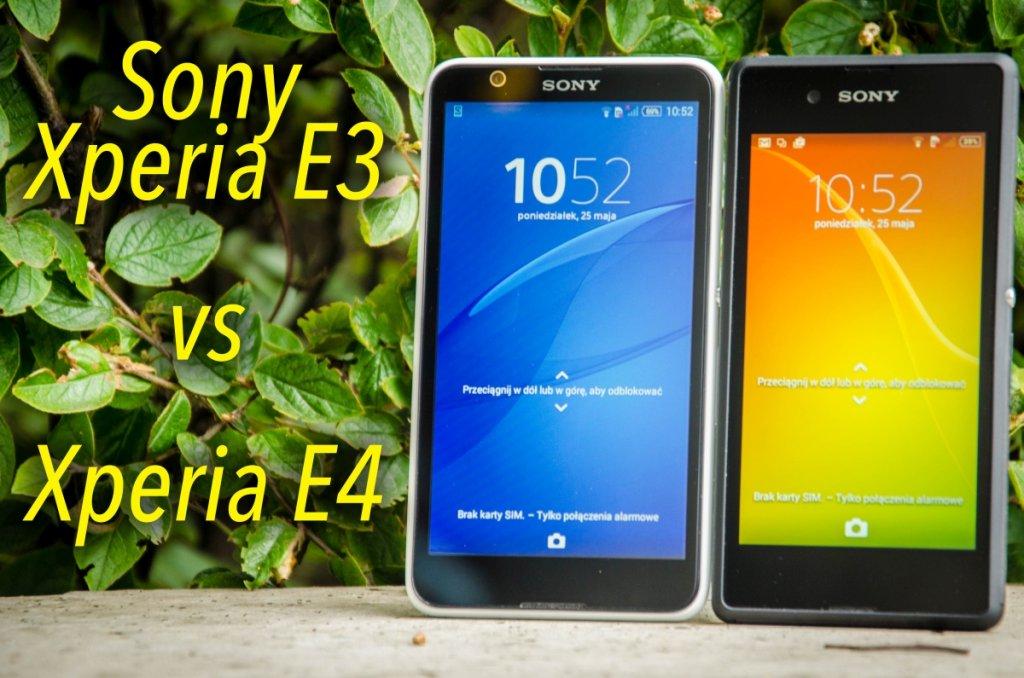 Sony Xperia E3 i E4