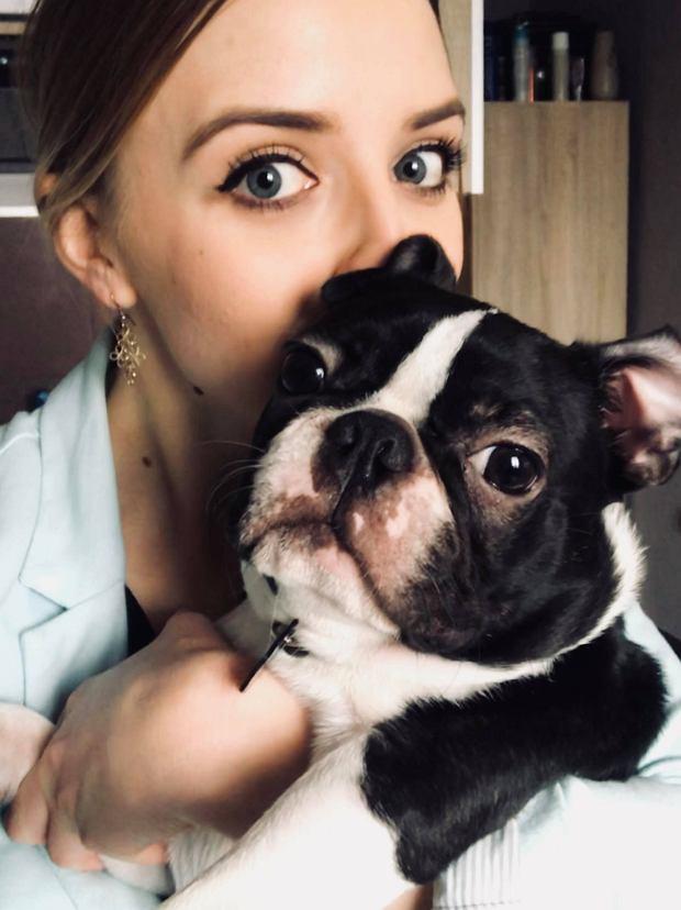 Martyna Kisiel i jej pies