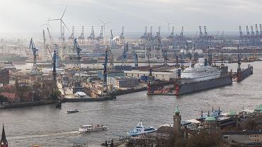 Niemcy, port w Hamburgu