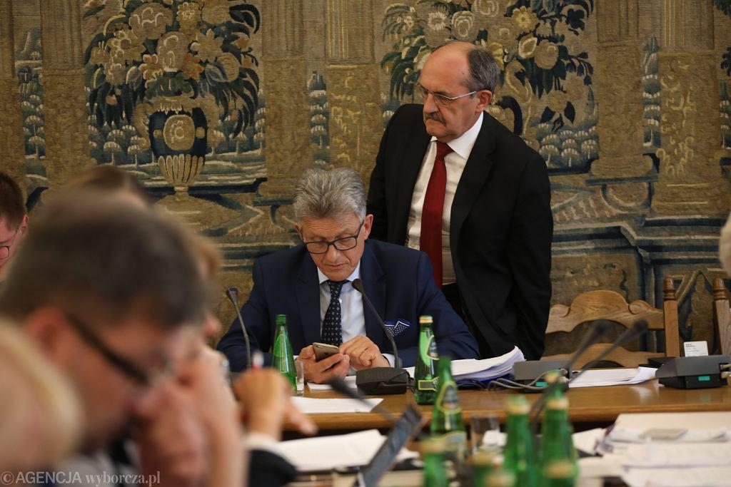 Przewodniczący komisji sprawiedliwości poseł PiS Stanisław Piotrowicz