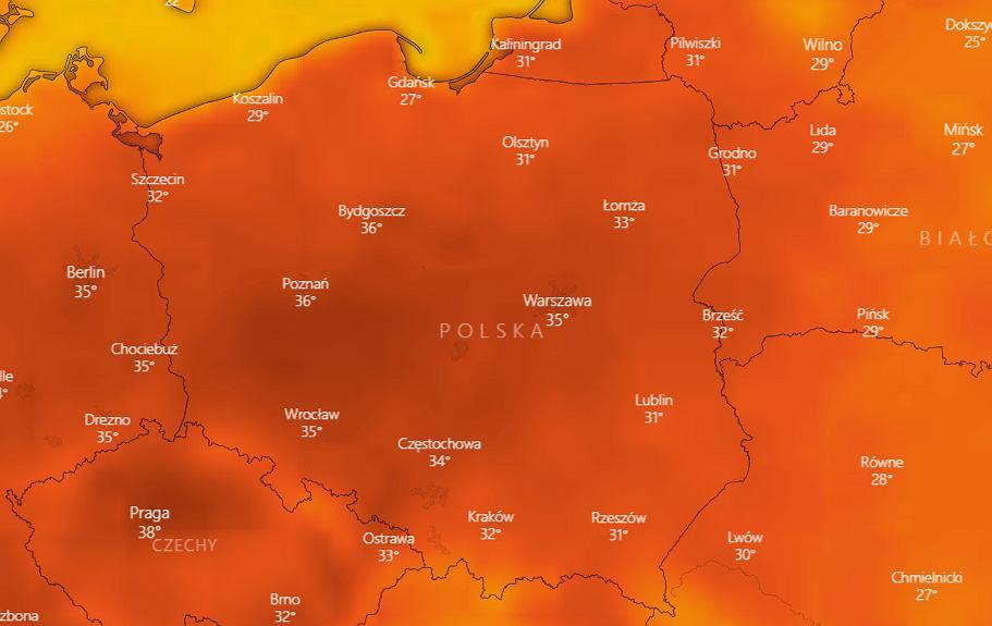 Pogoda. Fala upałów nad Polską