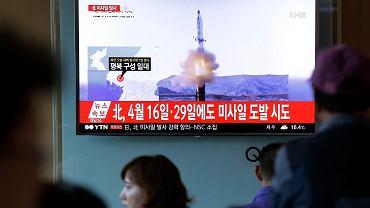 Korea Północna wystrzeliła pocisk (zdjęcie ilustracyjne)