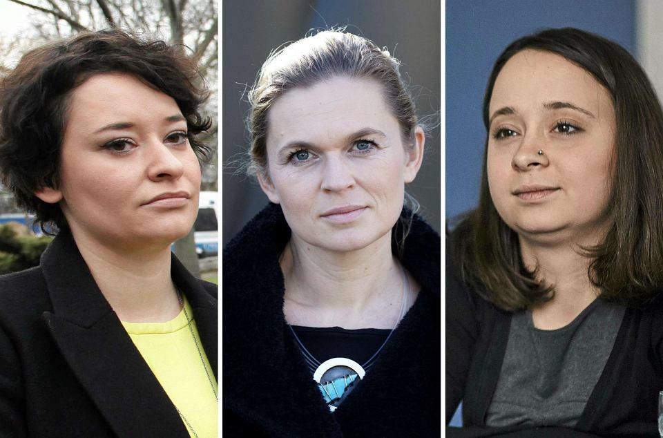 Anna Maria-Żukowska (rzeczniczka SLD), Barbara Nowacka (Inicjatywa Polska), Marcelina Zawisza (Razem)