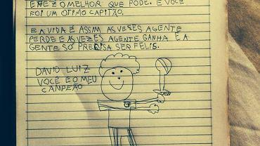 List 9- letniej dziewczynki do Davida Luiza