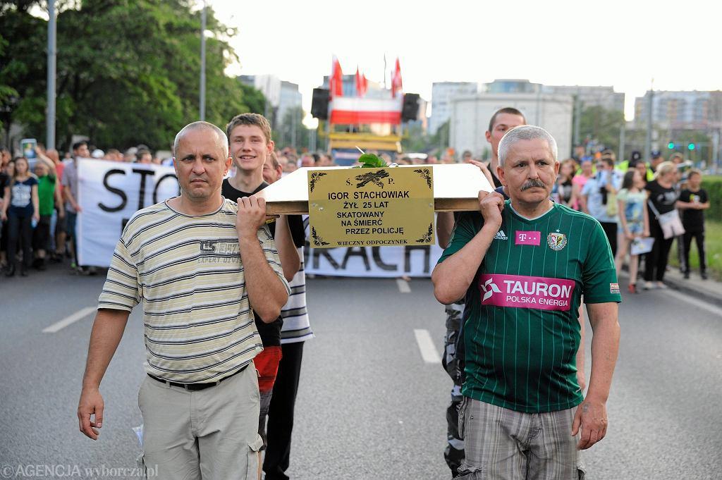 Marsz przeciwko brutalności policji w związku ze śmiercią Igora Stachowiaka