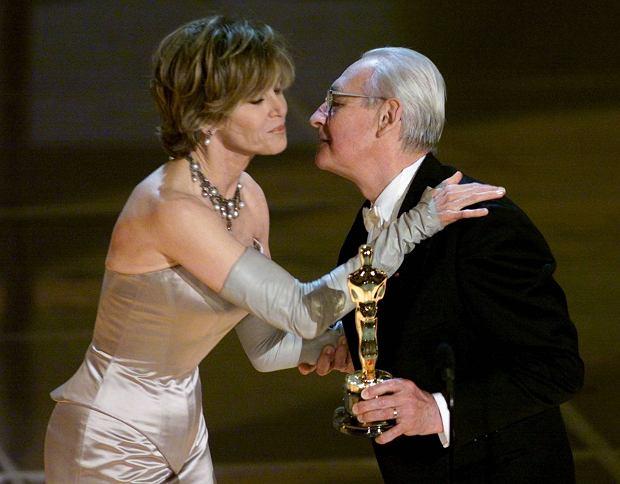 Andrzej Wajda odbiera Oscara za całokształt twórczości, Los Angeles, 26.03.2000