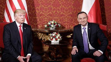 Andrzej Duda i Donald Trump podczas szczytu inicjatywy Trójmorza w 2017 roku