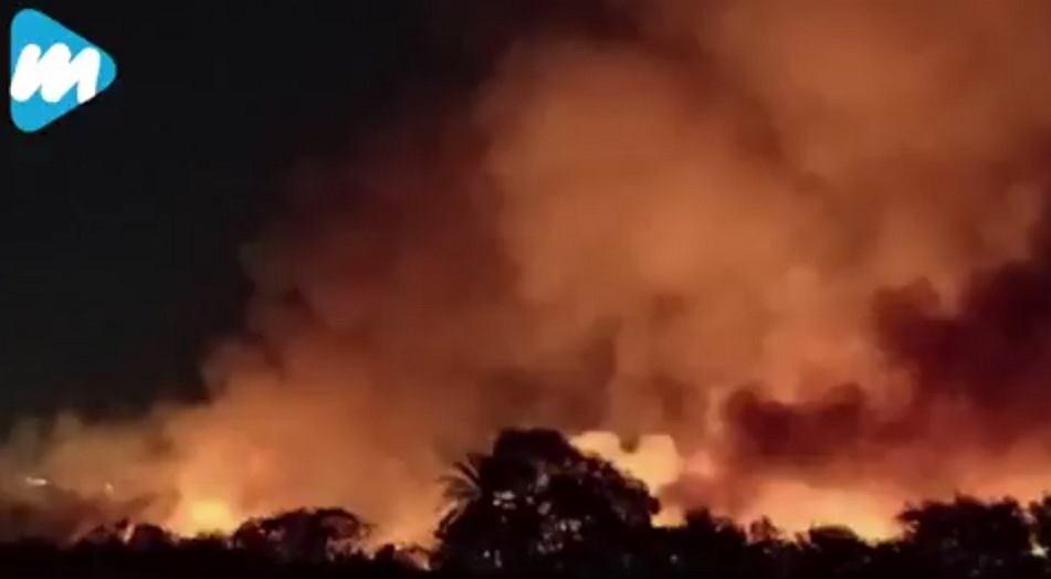 Pożar jeziora Bellandur