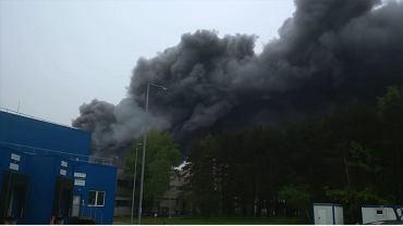 Pożar na terenie kopalni Bełchatów