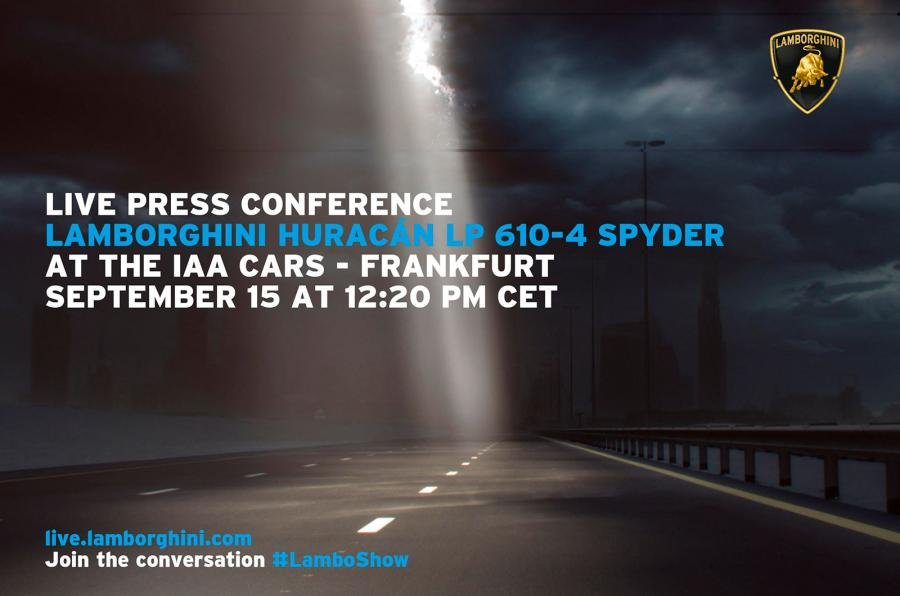 Lamborghini zaprasza na prezentację Huracana Spyder