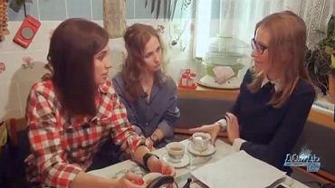 Maria Alochina i Nadieżda Tołokonnikowa z Ksenią Sobchak