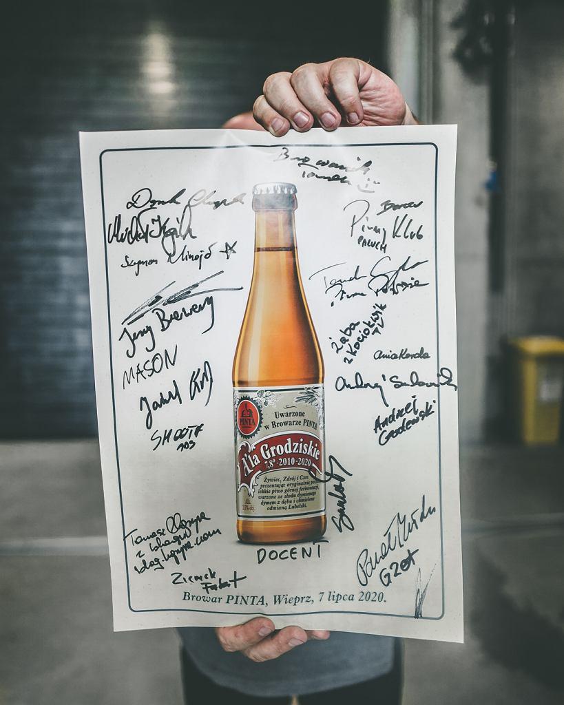 Pamiątkowy plakat z warzenia piwa