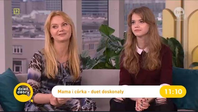 Olga Borys z córką Mirą