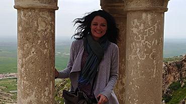Ewa Pintera, pracownik PCPM, podczas misji w Iraku