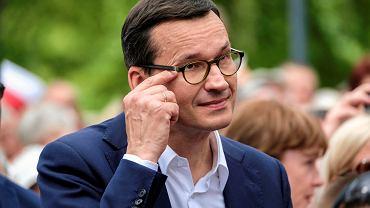 Wybory parlamentarne 2019. Mateusz Morawiecki, premier Polski podczas Pikniku Rodzinnego w Stalowej Woli