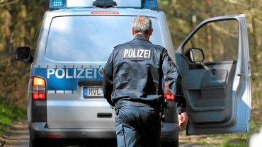 Niemiecka policja/zdjęcie ilustracyjne