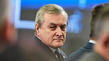 Piotr Gliński na konwencji wyborczej PiS przed wyborami samorządowymi w Łodzi