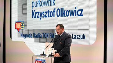 Krzysztof Olkowicz odbiera Nagrodę Radia TOK FM przyznawaną osobie wyróżniającej się wyjątkowym wpływem na rzeczywistość w zeszłym roku. 1 kwietnia 2014 r. Muzeum Historii Żydów Polskich w Warszawie