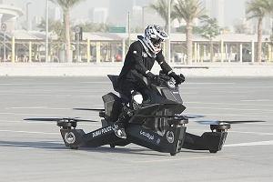 Policjanci w Dubaju mają latający motocykl. Wkrótce ominą każdy korek