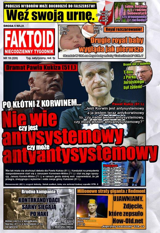 Faktoid: Kukiz nie wie czy jest antysystemowy -  - Faktoid