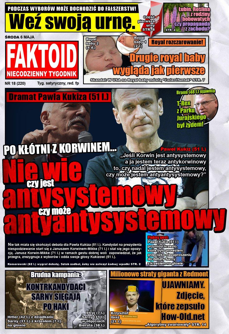 Faktoid: Kukiz nie wie czy jest antysystemowy - Faktoid