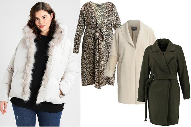 modne kurtki zimowe dla puszystych z flauszu