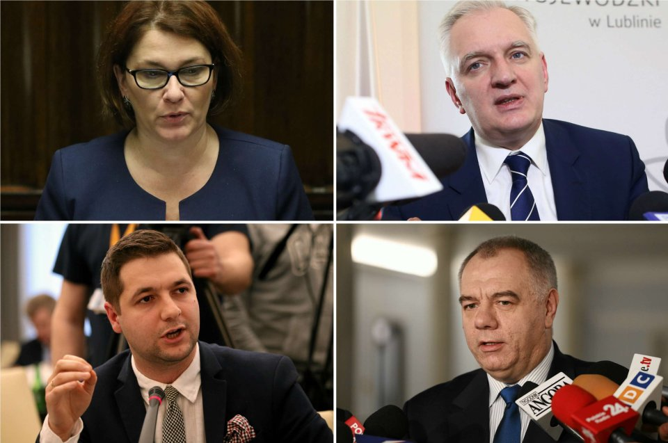 Beata Mazurek, Jarosław Gowin, Patryk Jaki, Jacek Sasin