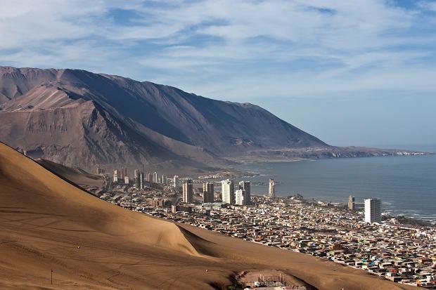 Smocza wydma w Chille
