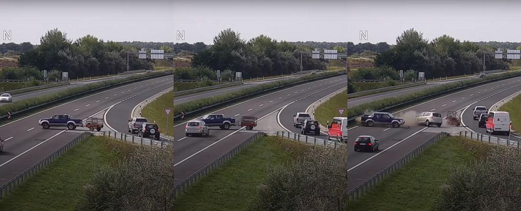 Kolizja na autostradzie M25 (Węgry)