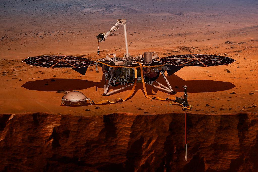 Misja InSight. Lądowanie na Marsie - wizualizacja