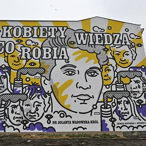 Mural upamiętniający Jolantę Wadowską-Król w Katowicach