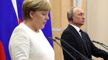 Konferencja prasowa po spotkaniu Władimira Putina z Angelą Merkel